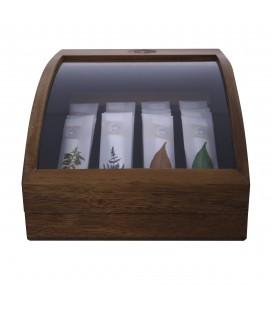 Mini Coffret Présentoir de Thés en Bois