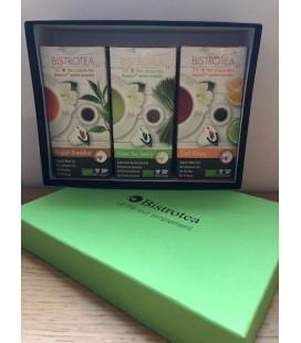 Coffret assorti 3 boites de capsules de thés Bio