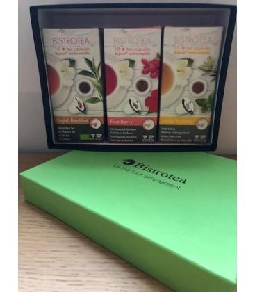 Coffret assorti 3 boites de capsules de thé et infusions